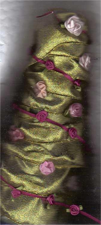 تزئین کله قند با روبان و گلهای روبانی