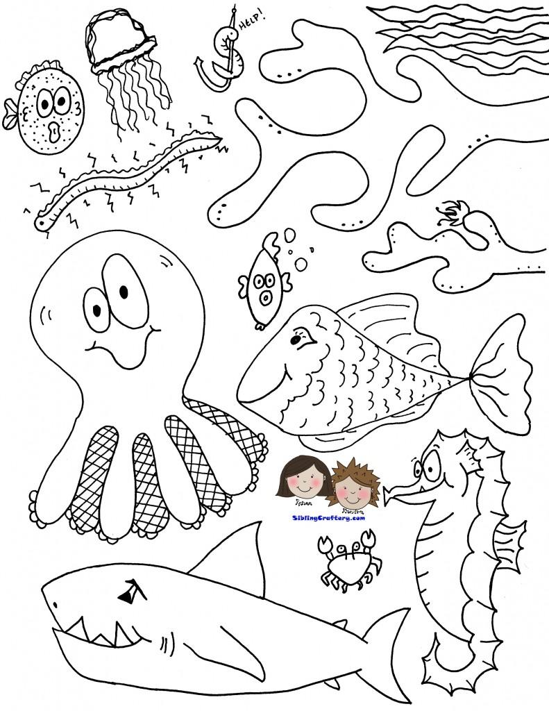طرح جانوران دریایی